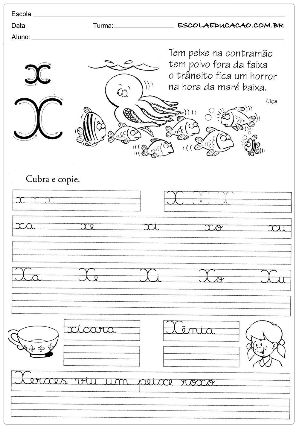Atividade de caligrafia br cr dr fr gr pr tr vr escola