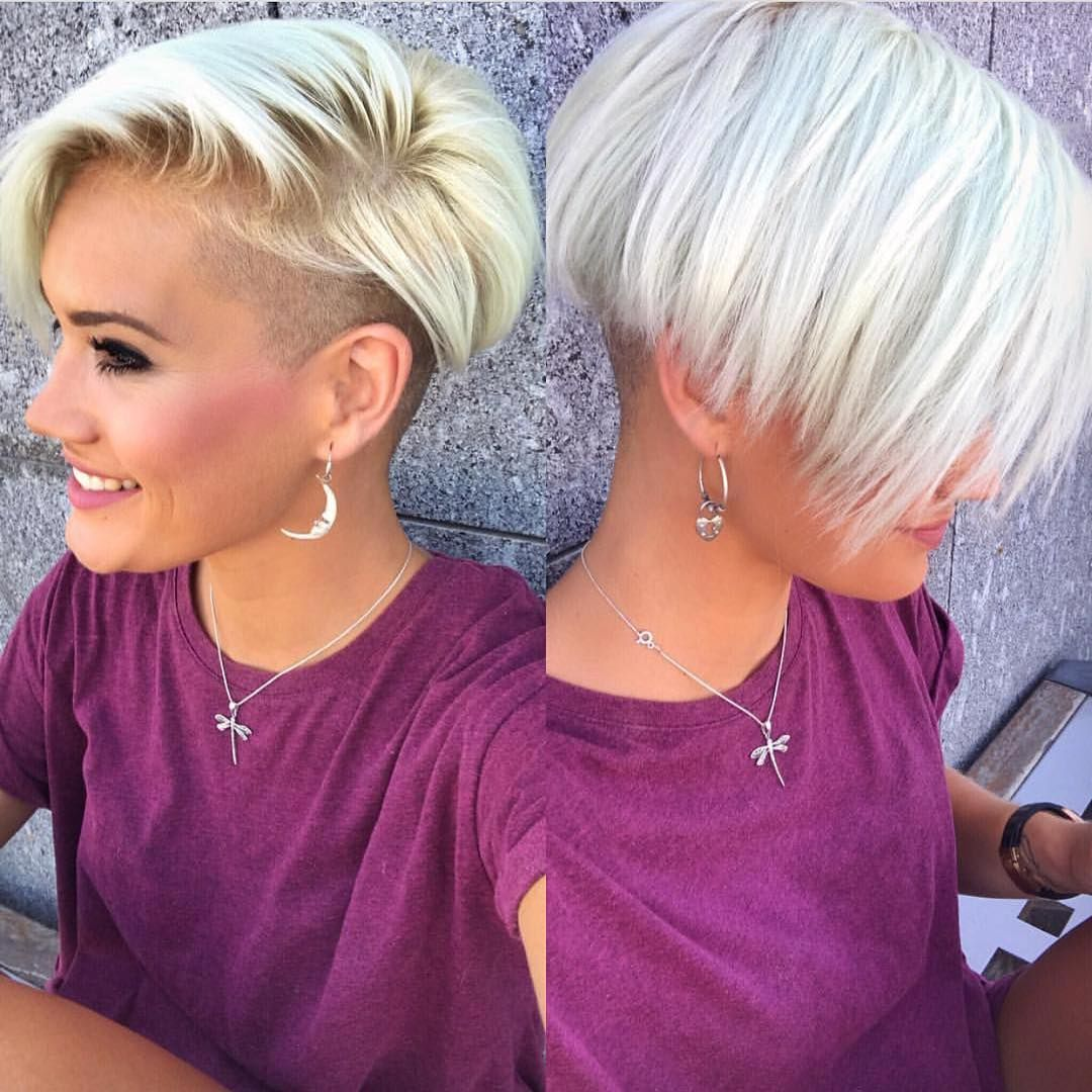 10 Chic Shaved Haircuts For Short Hair Women Short