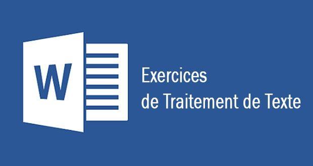 Exercices de traitement de texte avec Word pour débutant en PDF à télécharger gratuitement ...