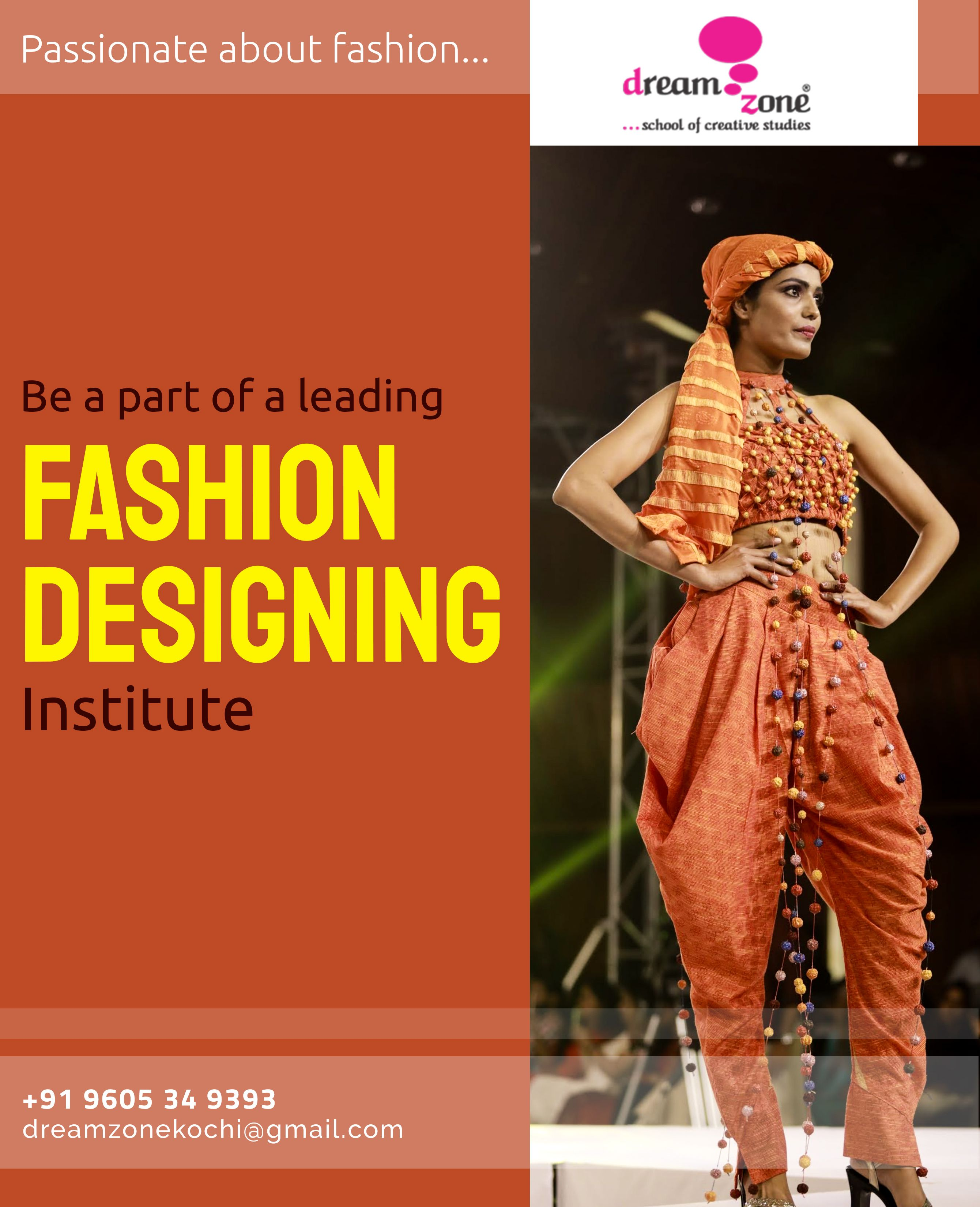Dreamzone Offers Fashion Designing Course That Provides You With The Capabilities K Fashion Designing Course Graphic Design Course Fashion Designing Institute
