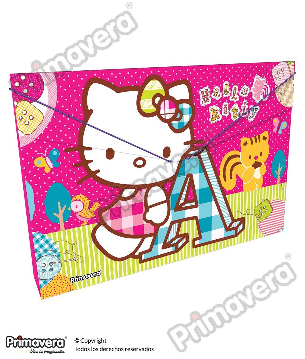 Carpeta Plástica Fuelle Hello Kitty http://escolar.papelesprimavera.com/product/carpeta-plastica-fuelle-hello-kitty-primavera-7/