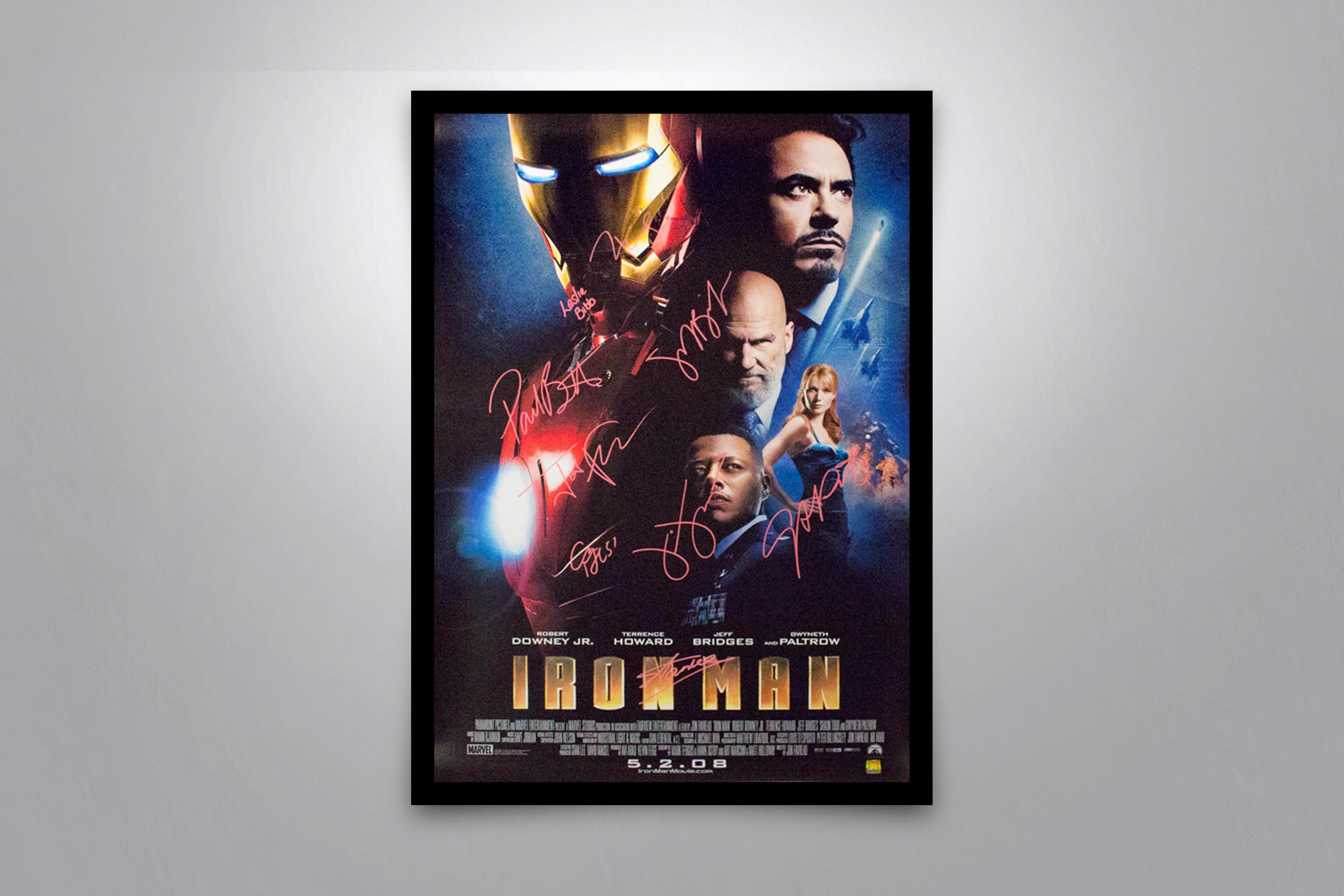 Iron man signed poster coa with images iron man