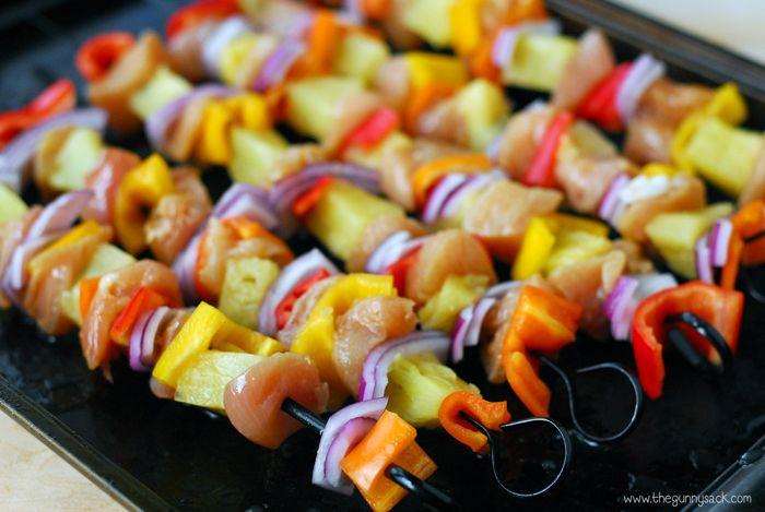 Chicken Kebabs Recipe With Pinapple Pork Kebabs Easy Grilling Recipes Chicken Kabob Recipes