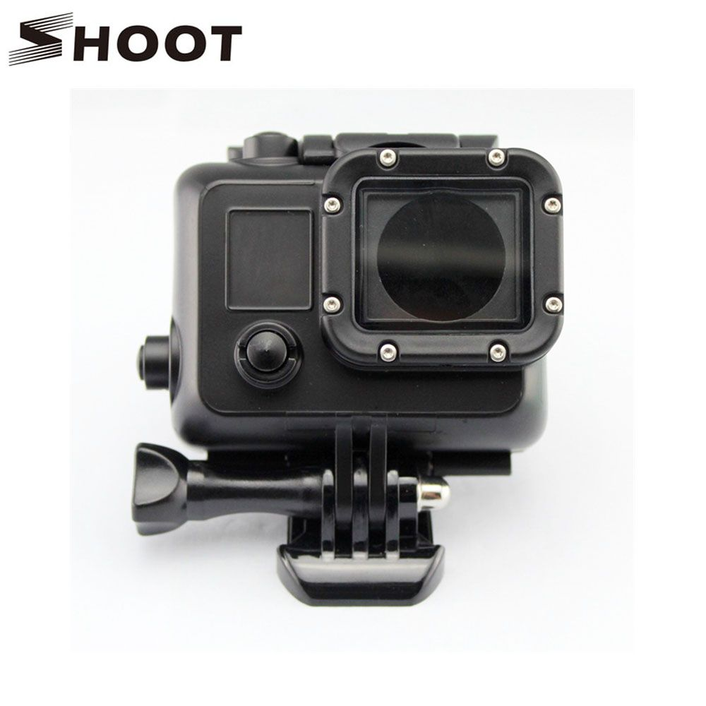 Black Underwater Waterproof Housing Case Cover For Gopro Hero 3 4 Sports Camera Go Pro Accessories