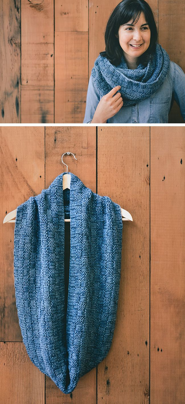 Double Basketweave Cowl | Pinterest | Bufanda cuello, Ponerse y Tejido