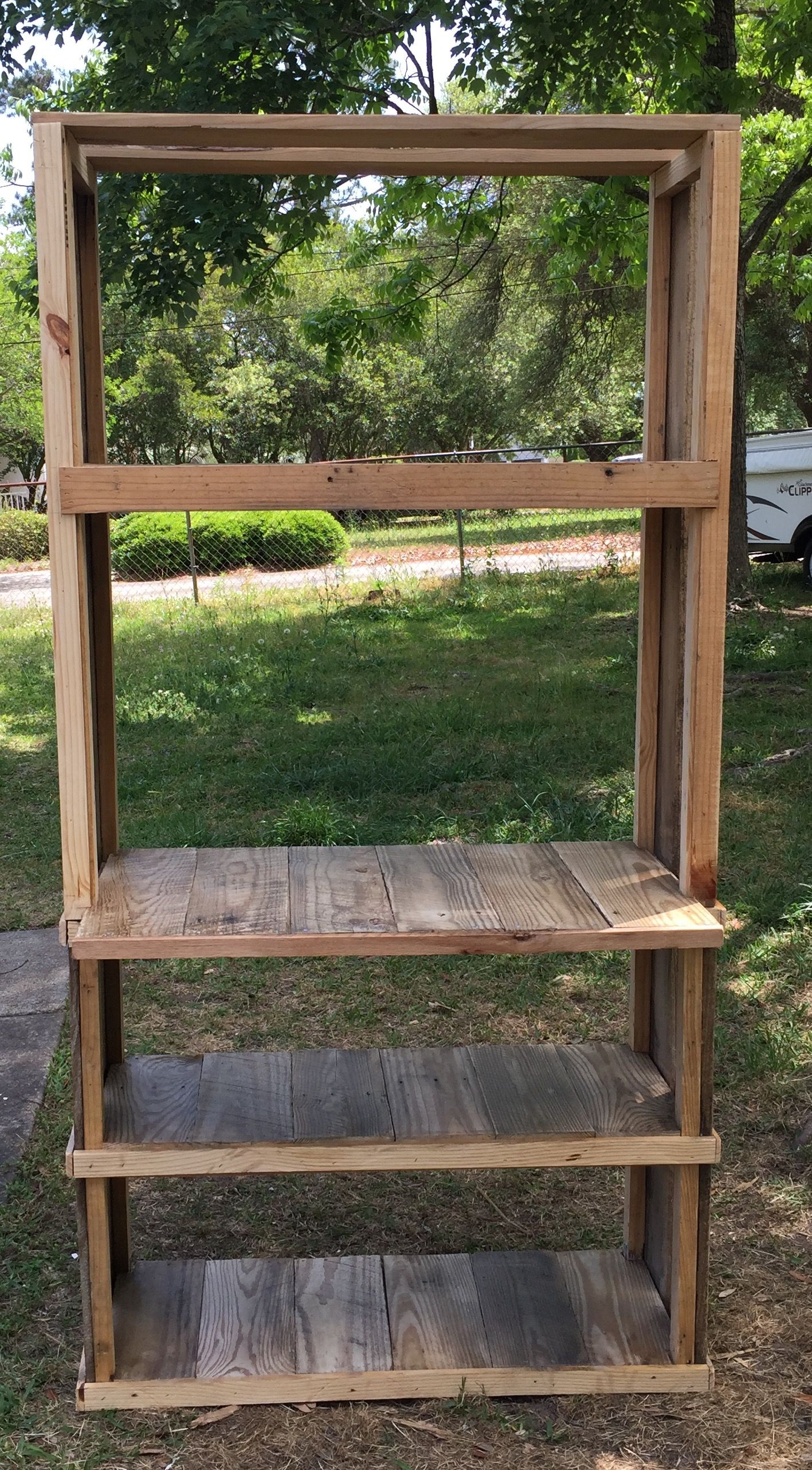 Handmade pallet wood bakers rack made by www
