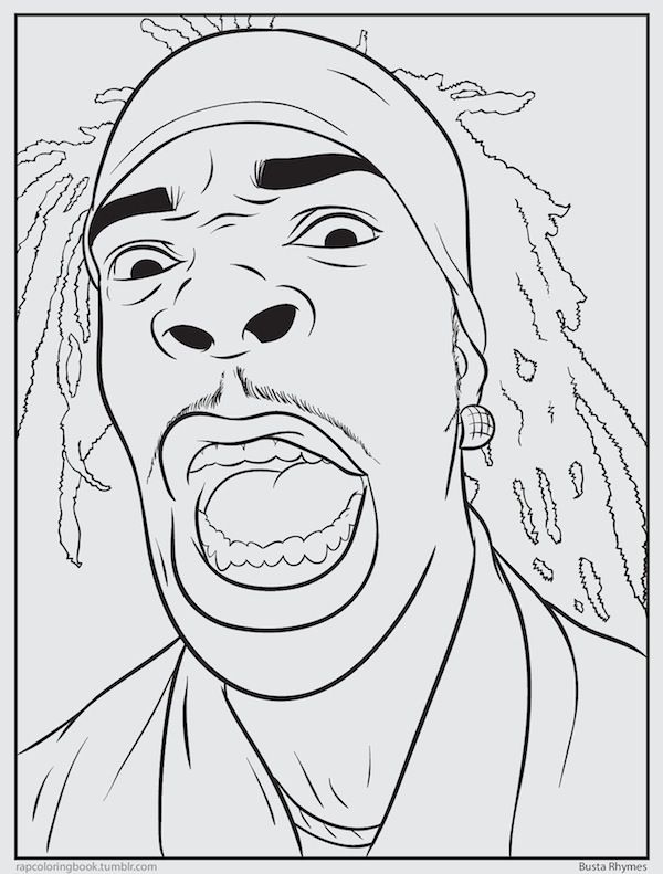 Famous Rappers Coloring Pages