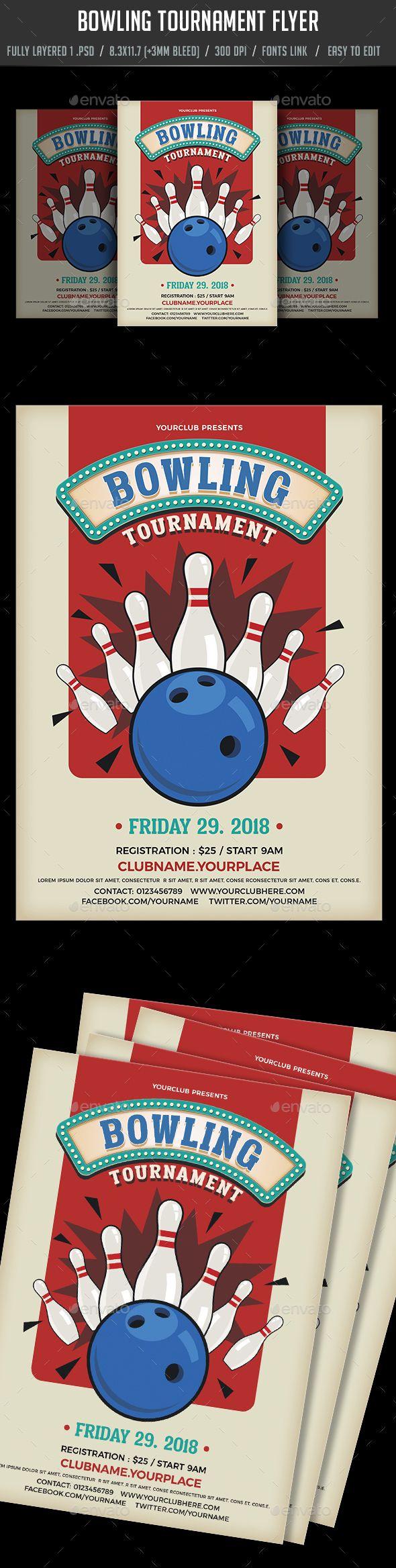 Bowling Tournament Flyer Bowling tournament, Bowling, Flyer