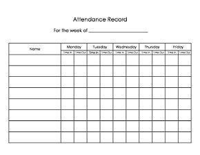 Daycare Sign In Sheet WO Initials Template Monthly Per Child