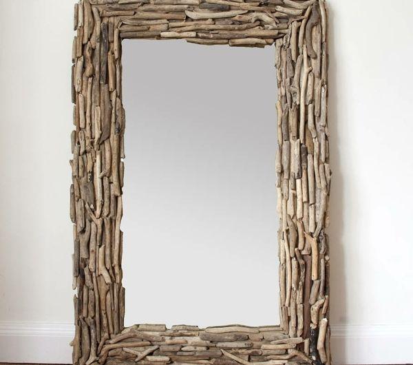 Voyez le monde dans le miroir à bois flotté | Miroir rectangulaire ...