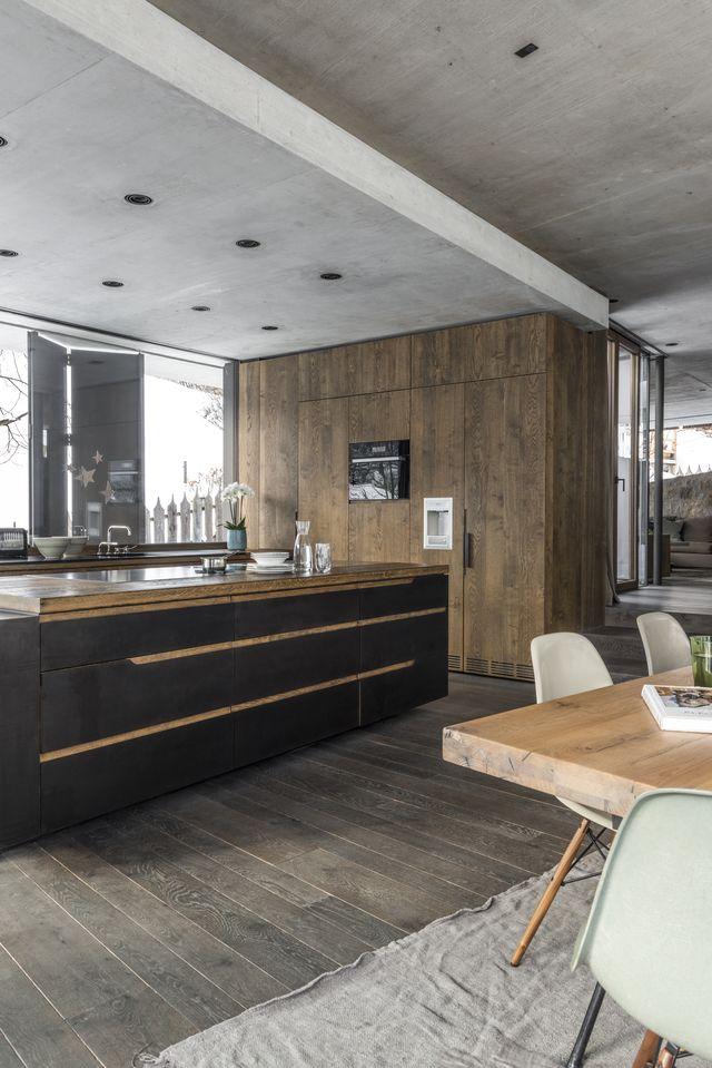 See Inside An Austrian Winter Wonderhome Image Interiors Living Kitchen Inspiration Modern Interior Kitchen Design