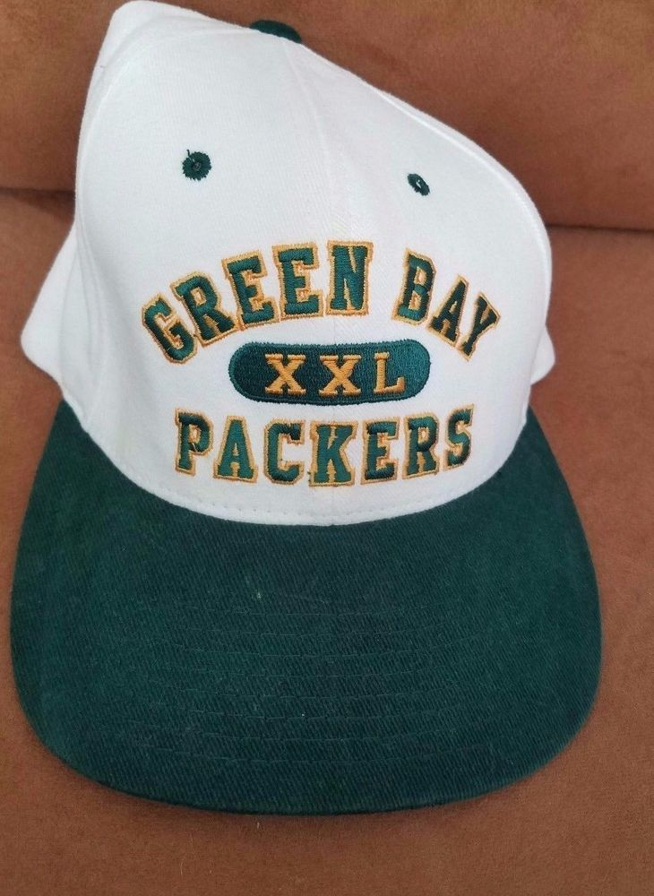 Vintage Green Bay Packers XXL white Snapback Football Hat Cap Champion NFL   Champion  GreenBayPackers a55a709243f