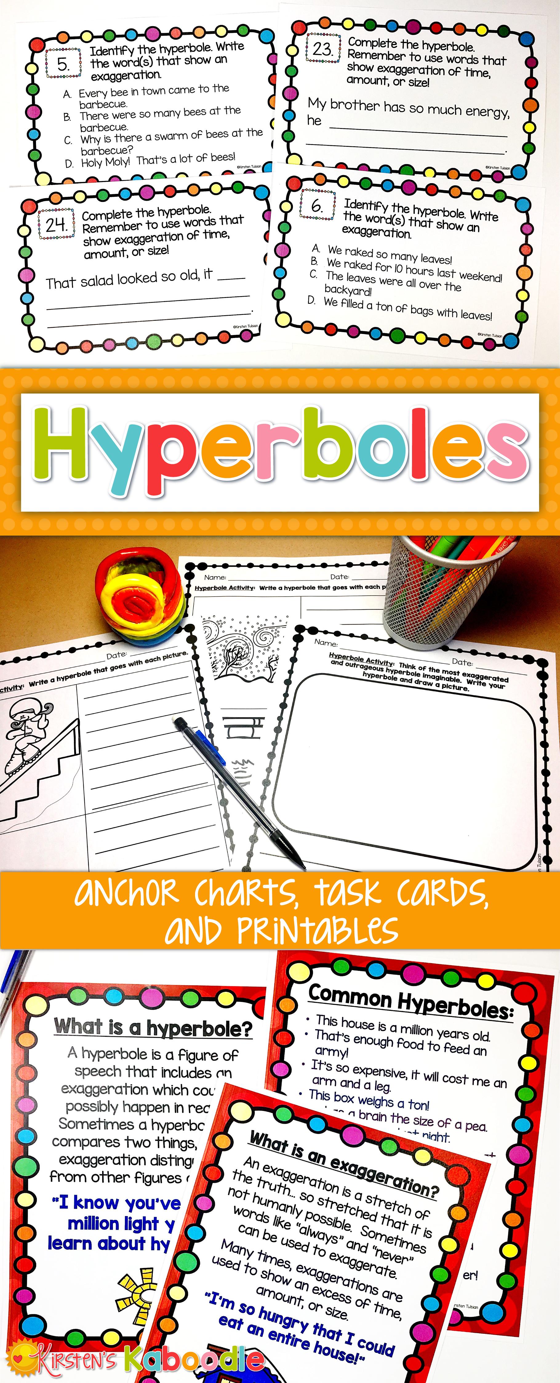 Hyperbole Distance Learning Activities