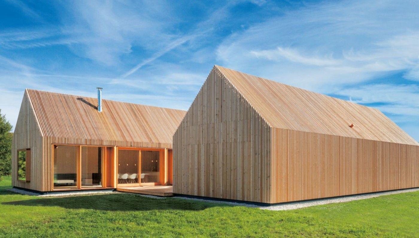 Holzhaus Mit Hof Moderne Avec Moderne Eingeschossige