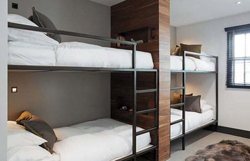 Mix Of Wood And Metal Modern Bunk Beds Bunk Beds Custom Bunk Beds