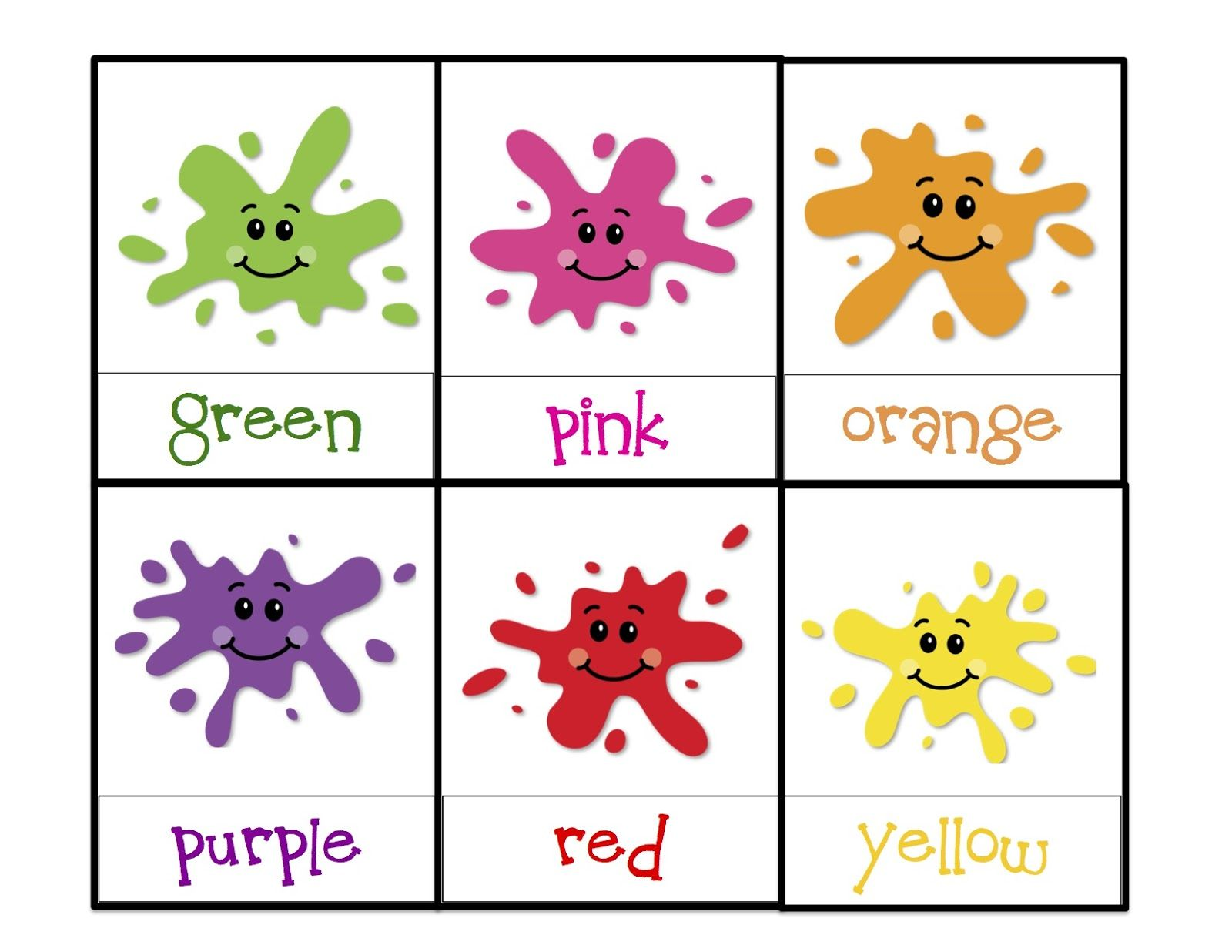 Learning Colors Printable