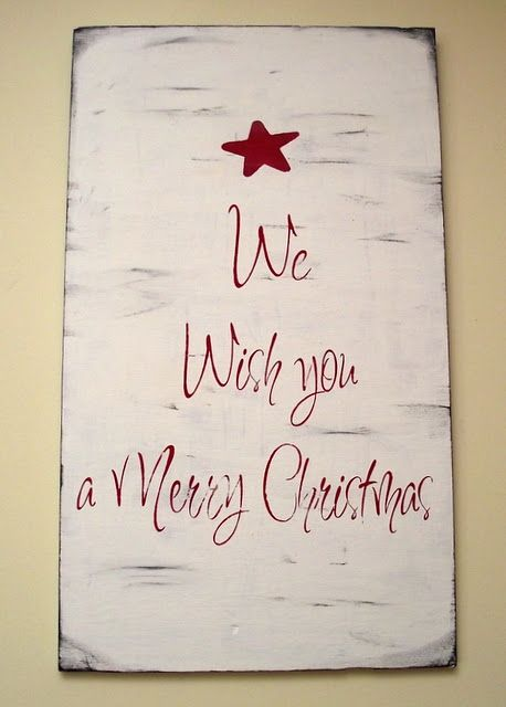 Christmas sign.......this woulspd look awesome painted on an old cupboard door