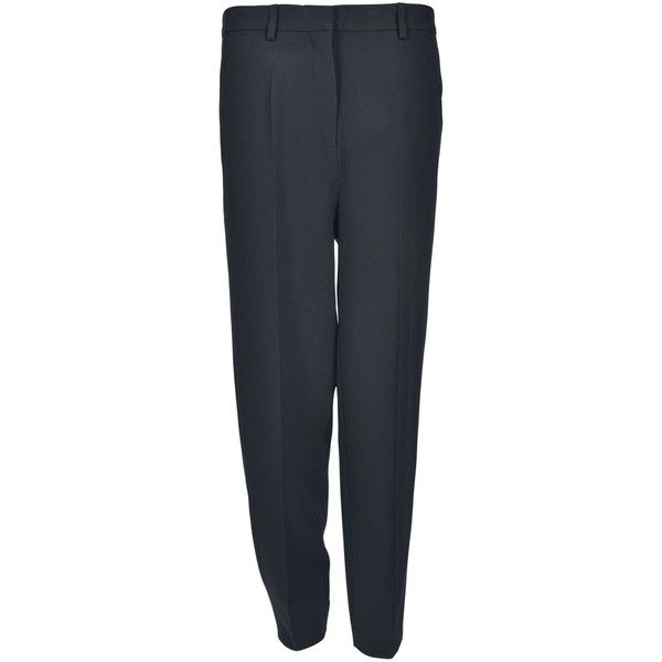 Rochas Tapered Cropped Trousers ($485) ❤ liked on Polyvore featuring pants, capris, black, rochas, cropped trousers, cropped capri pants, taper cut pants and tapered fit pants