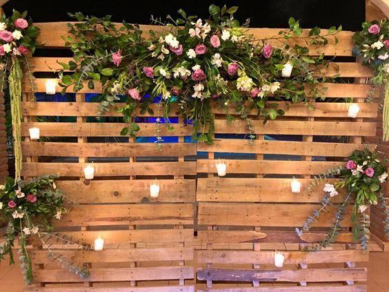 Diy Rustic Wedding Backdrop With Faux Flowers Diy Wedding Backdrop Rustic Wedding Decor Rustic Wedding Diy