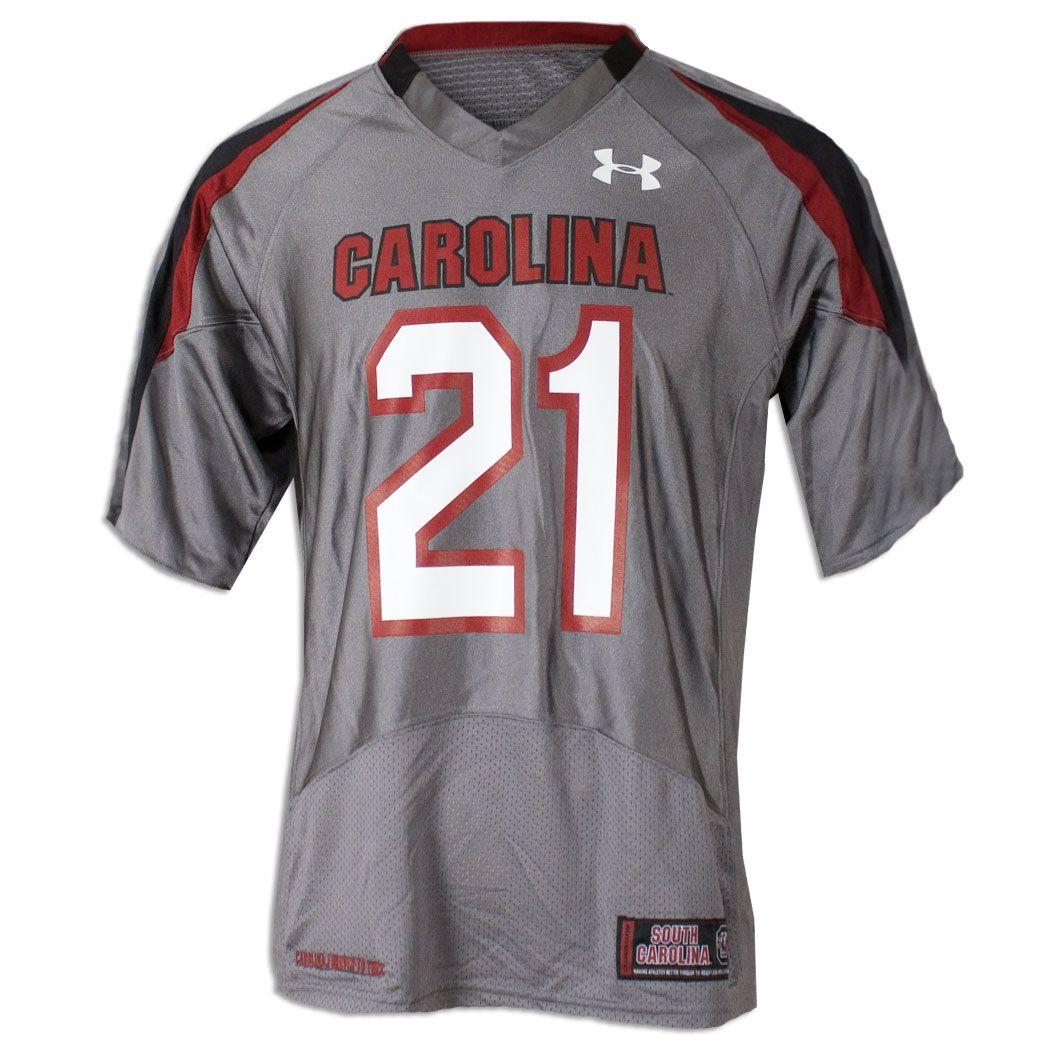 newest 385c9 d1079 South Carolina Gamecock Battle Gray #21 Jersey | Gamecock ...