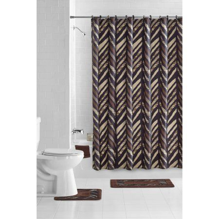 mainstays 15 piece bathroom sets brown - Walmart Bathroom Sets