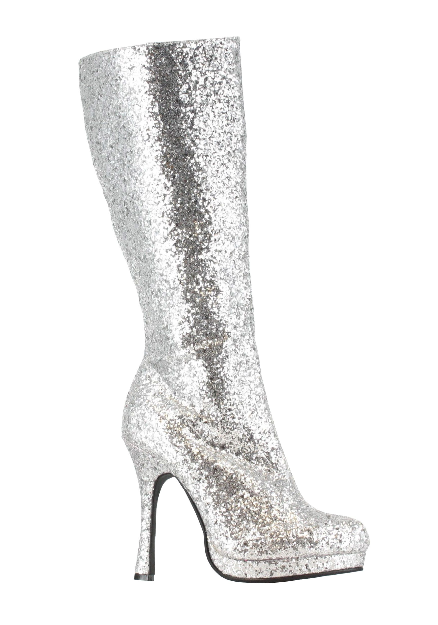 392ed5b6d63 Silver Glitter Boots | SILVER SPARKLES | High heels for kids ...