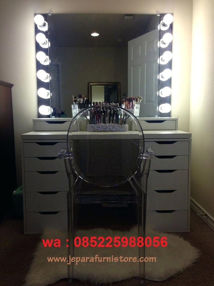 Meja Rias Cermin Dengan Lampu Led Atau, Diy Lampu Makeup