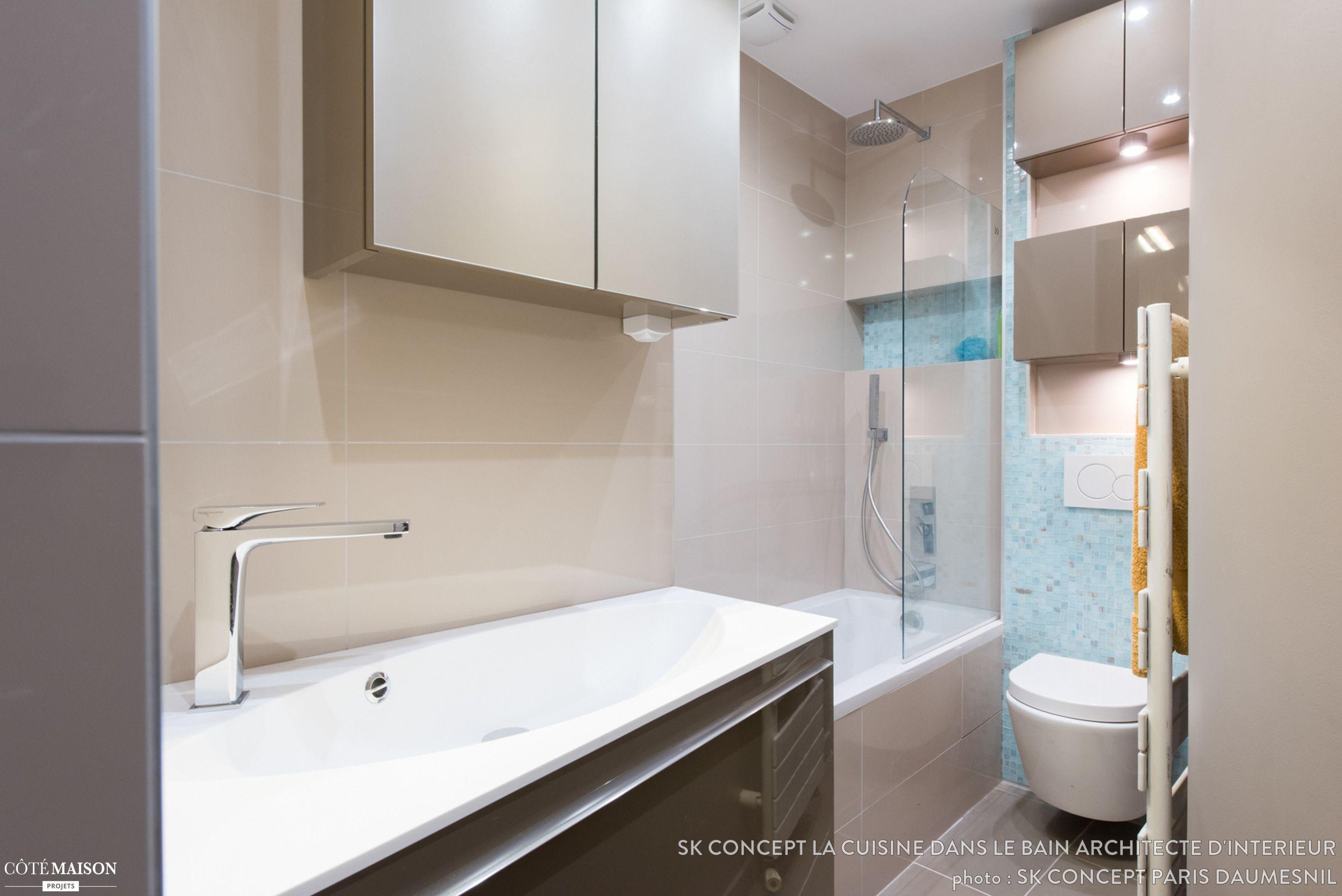 Création Dune Petite Salle De Bains Gain De Place Et Design SK - Salle de bain gain de place