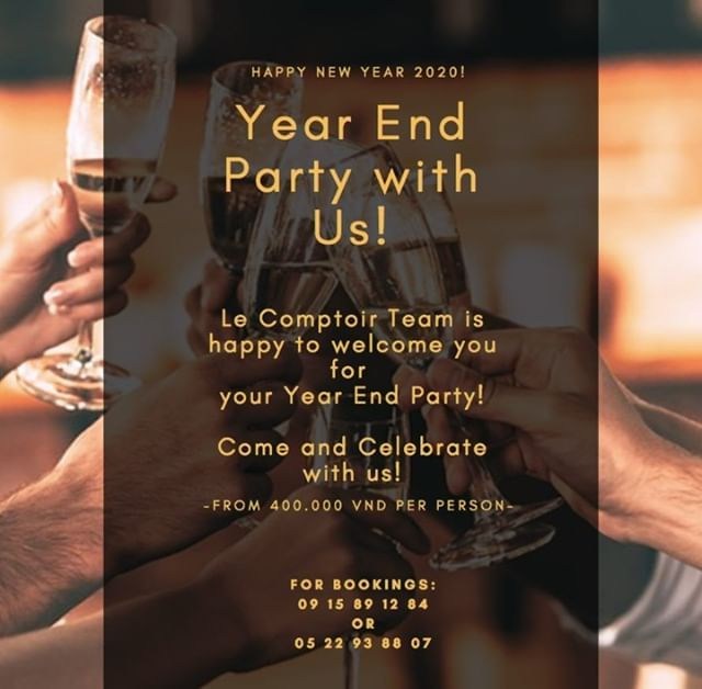 Year End Party with Us! Come and celebrate the last days ...