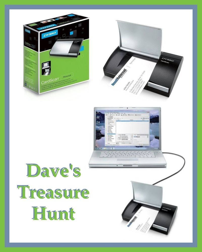 New Dymo Cardscan Portable Personal Business Card Scanner