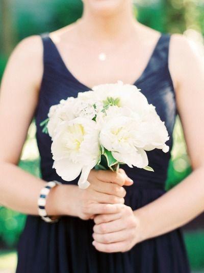 Peony bouquet: http://www.stylemepretty.com/little-black-book-blog/2015/07/22/classic-nautical-chesapeake-bay-club-wedding/ | Photography: Krista A. Jones - http://kristaajones.com/