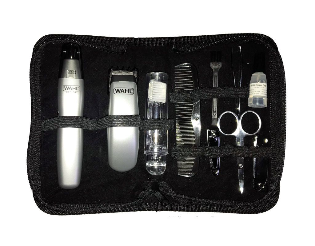 An allinone travel grooming kit for men for keeping