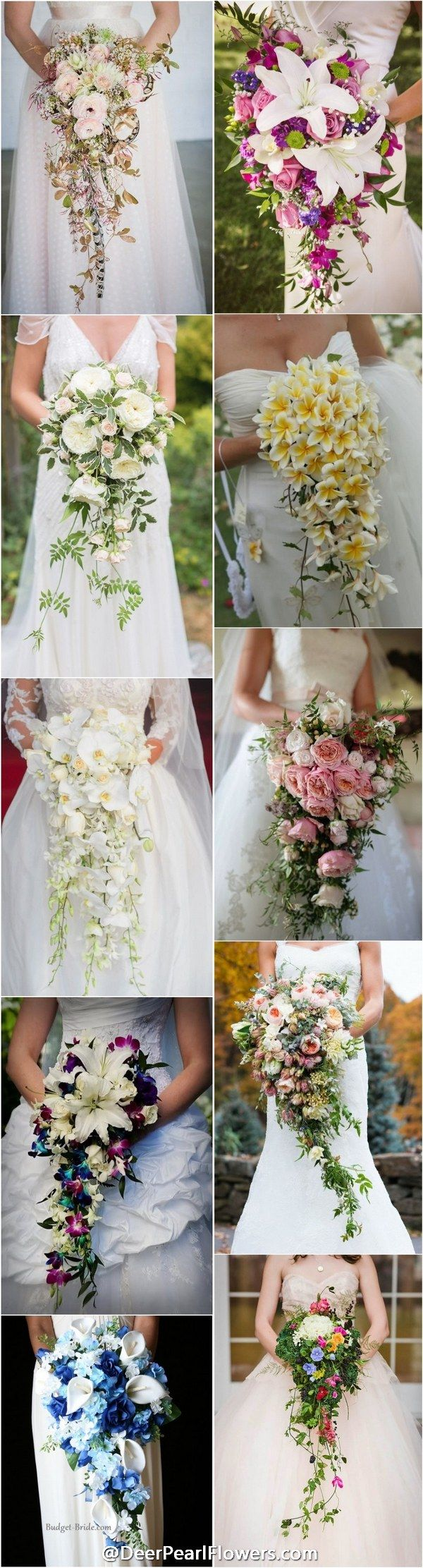 30 Stunning Cascading Wedding Bouquets | Flower, Wedding and Wedding