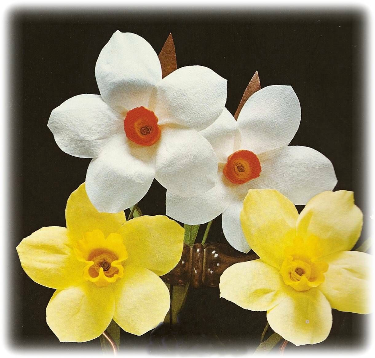 How to make paper daffodils and narcissi daffodils