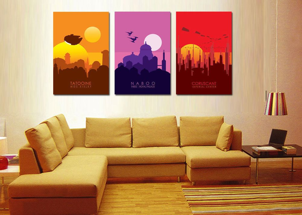 Home Decor Wall artpicture HD printed on canvasStar Wars Planet 3PC(No frame #PopArt & Home Decor Wall artpicture HD printed on canvasStar Wars Planet ...