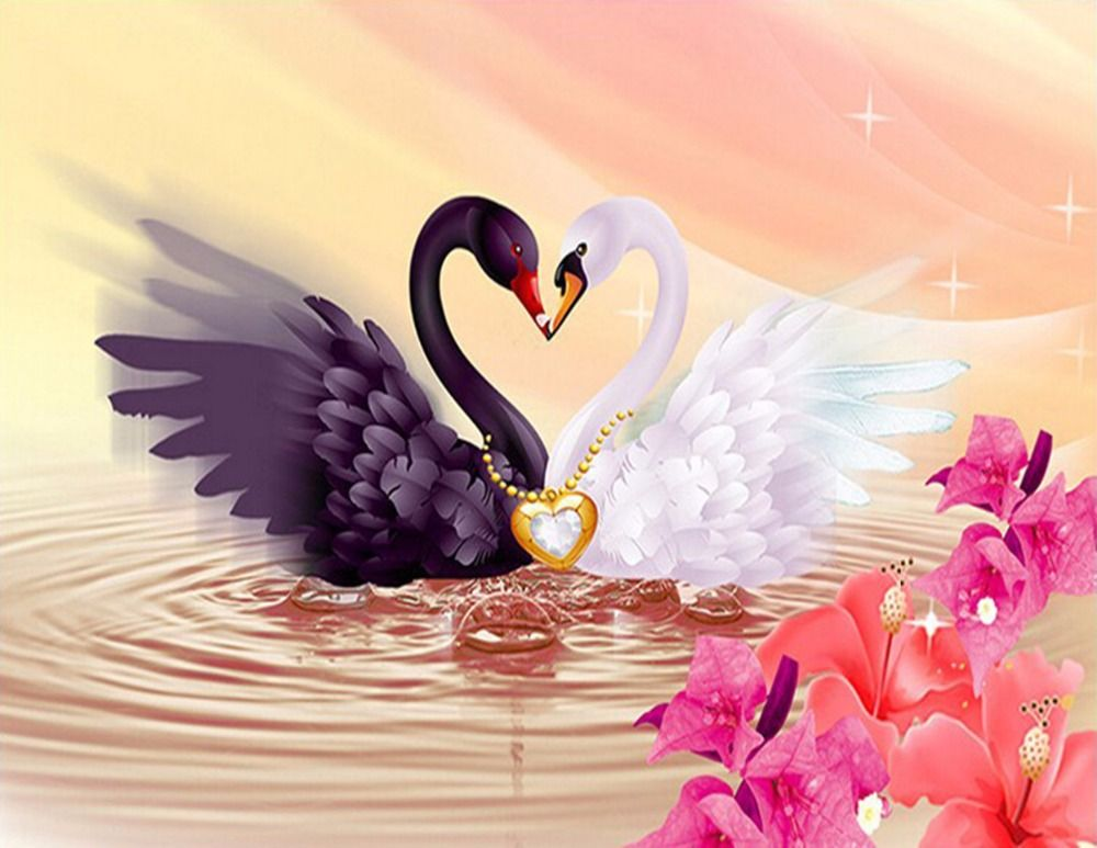 Лебеди картинки для открытки