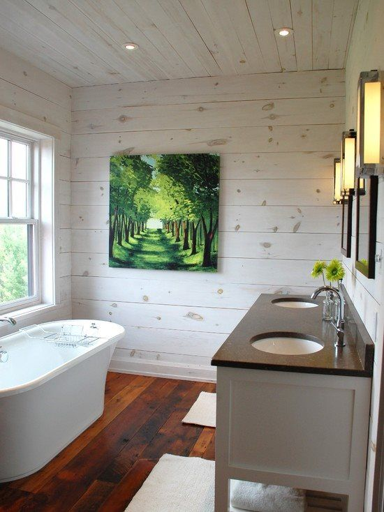 Rustic Chic Log Home Washroom #bathroomdesign In 2019