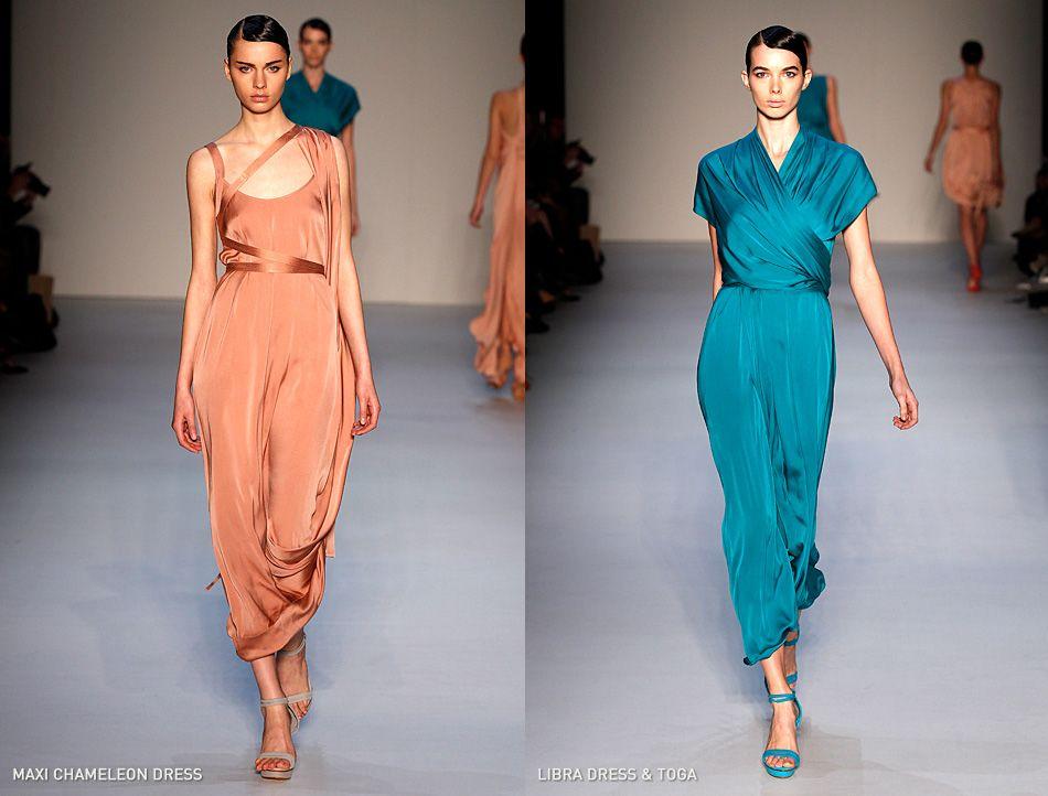 carl kapp maxi chameleon dress / libra dress
