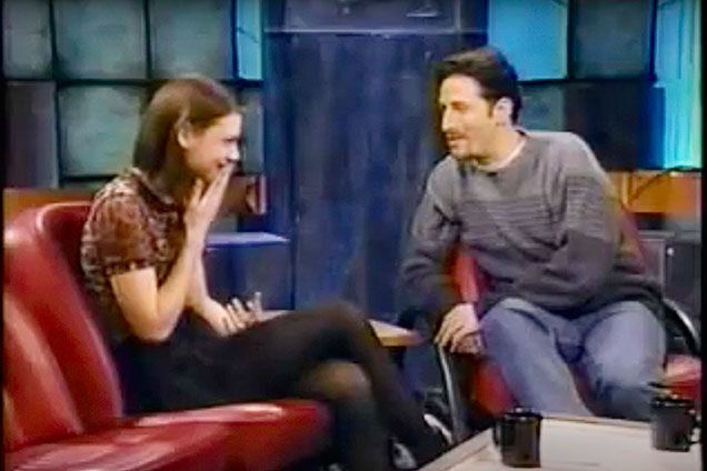 Claire Danes - 1994 on The Jon Stewart Show | allure.com