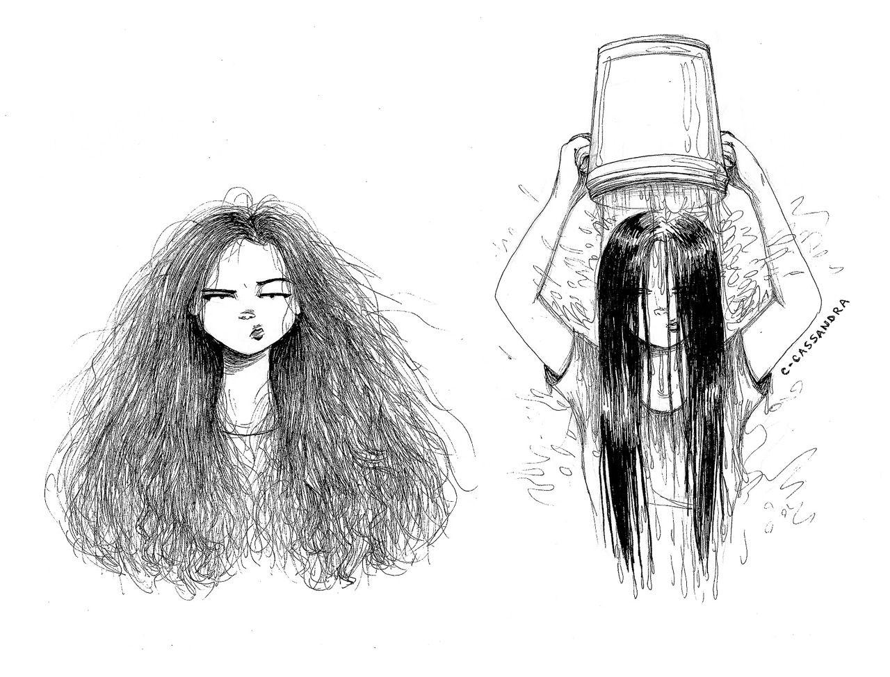 волосы смешной рисунок тэмари