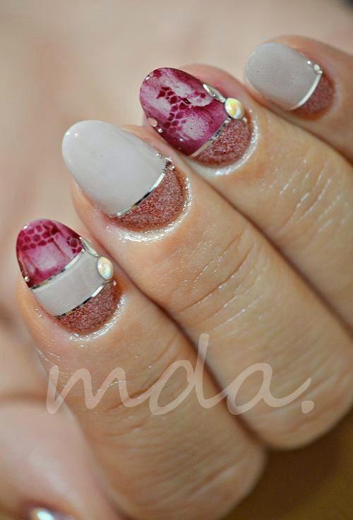 effect × merlot』 | Uña decoradas, Uñas pintadas y Diseños de uñas