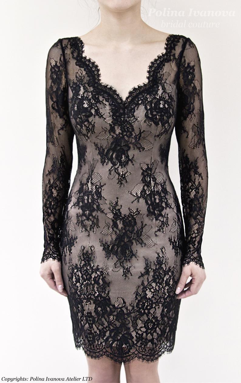 Black Wedding Dress Little Black Dress Short Wedding Dress Etsy Black Short Dress Short Wedding Dress Lace Dress Black [ 1260 x 794 Pixel ]