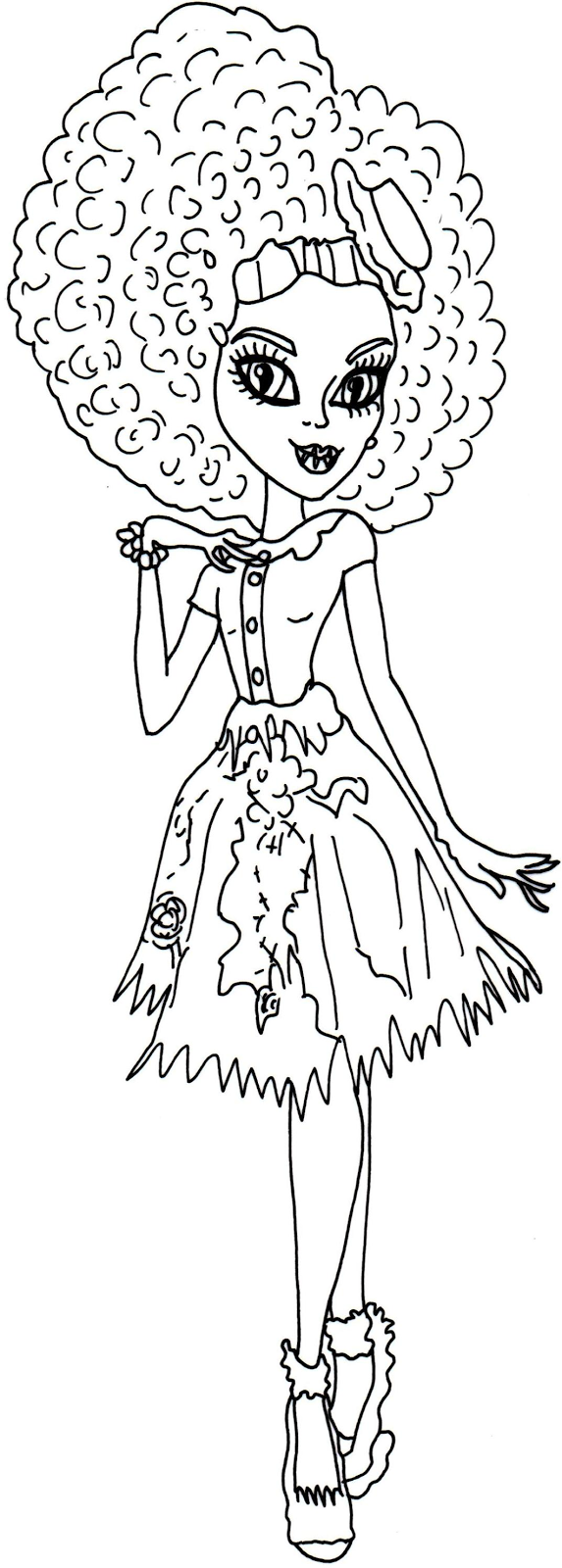 free printable ever after high coloring pages holly o u0027hair ever