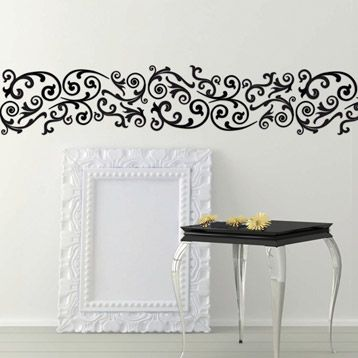 pochoir frise arabesque maison decorative leroy merlin. Black Bedroom Furniture Sets. Home Design Ideas