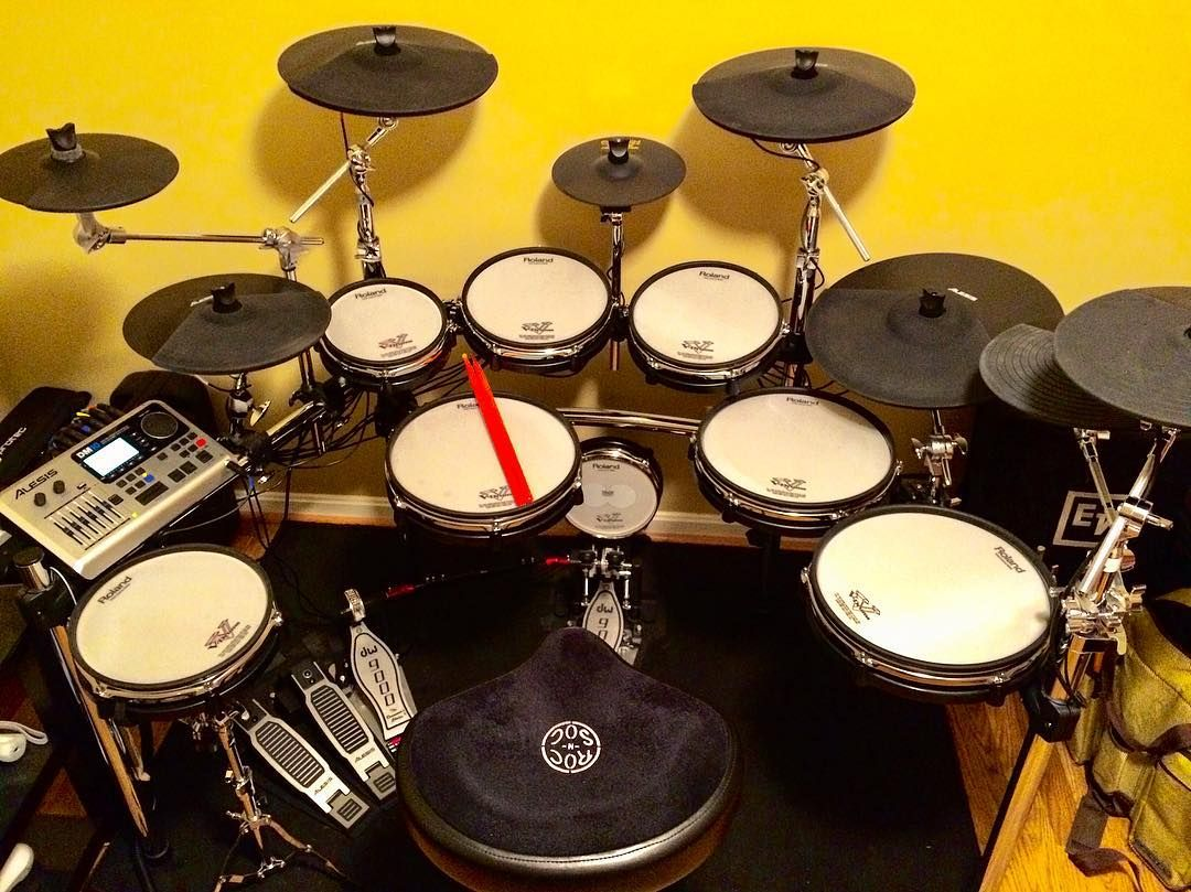 Late night post    My electronic drum kit  Uses Abelton Live
