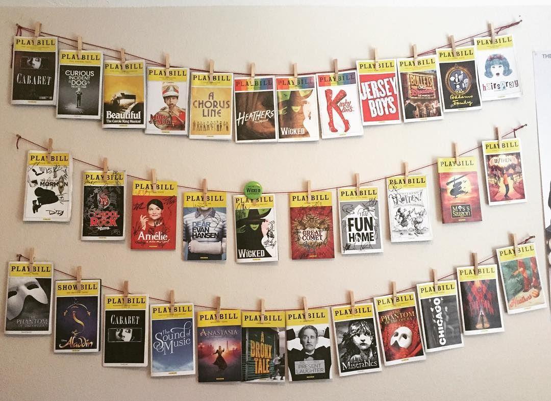 Here's my updated #playbill wall 😎💛 @playbill #broadway # ...