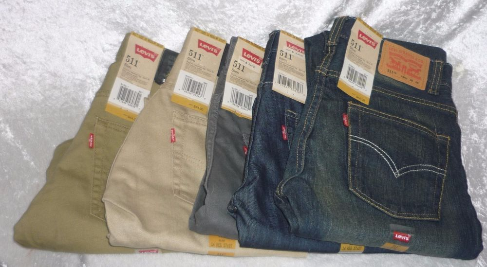 Levi's 511 boys jeans slim fit tapered leg colored kids regular ...