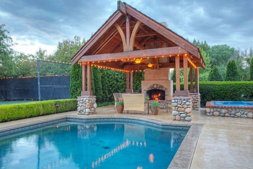 Pool Gazebo Ideas spa pool gazebo ideas 39 Gorgeous Gazebo Ideas Outdoor Patio Garden Designs