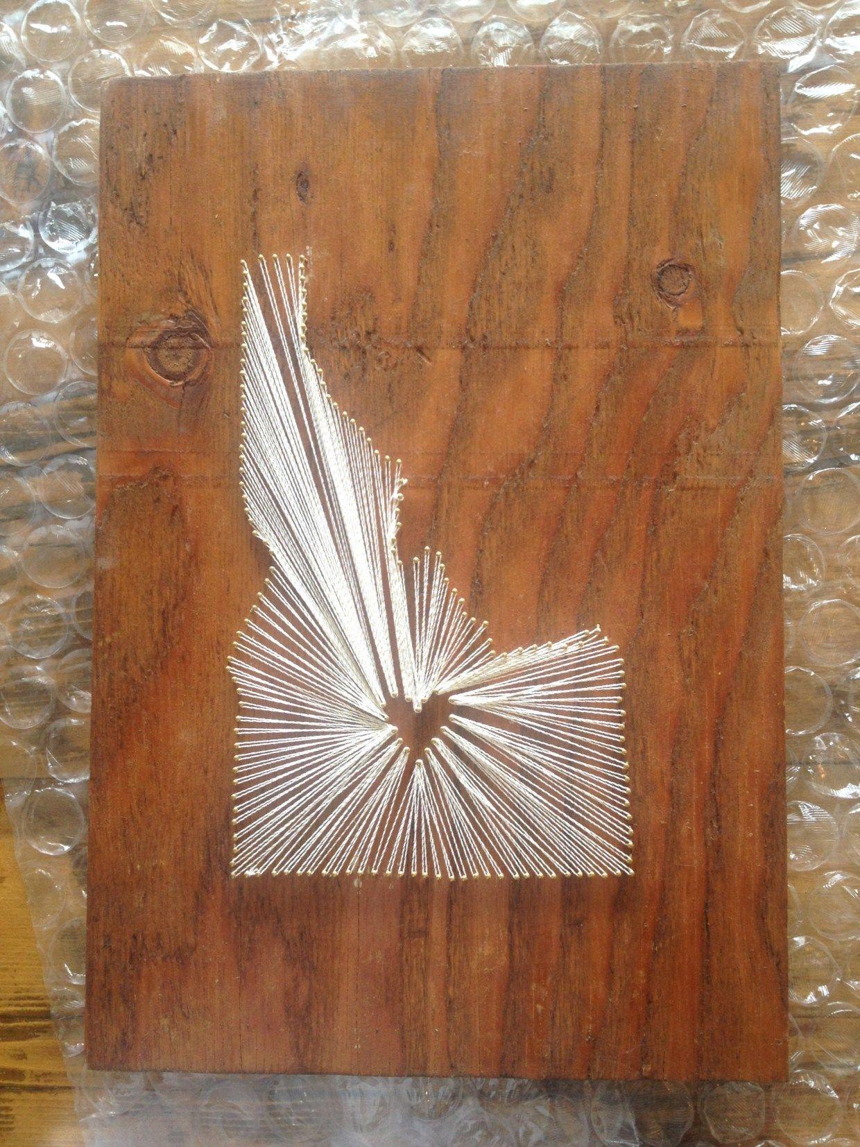 Idaho State String Art Crafts Pinterest String Art String