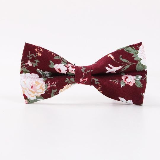 1bcf667c3b4d TieSet Men's Bowtie Neckwear Bowknot Bowties Cravats Casual Floral Flowers  Cotton Bow Tie Wedding Gifts For Women T-54